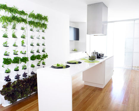 Vertical Home Gardens: Modular Stacking Green Wall System