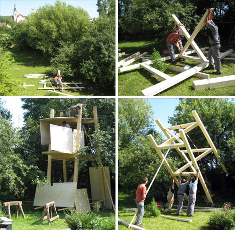 Simple Tree House Plans For Kids modern magic: building a treehouse for kids [plans & pics]