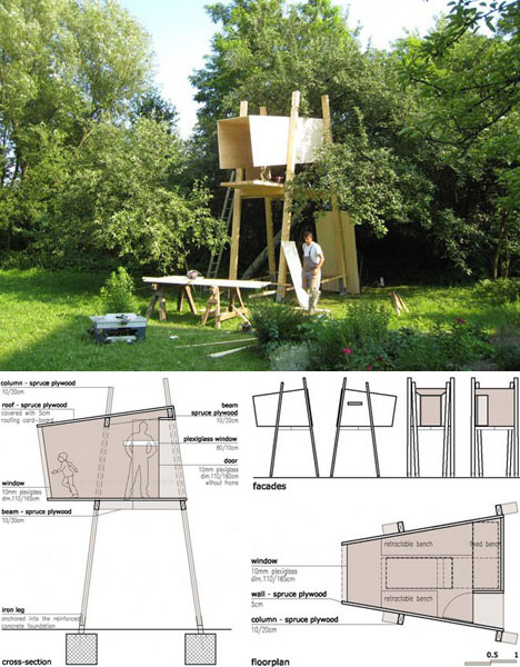 Modern magic building a treehouse for kids plans pics for Modern tree house designs