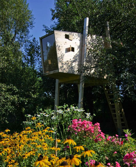 Box Treehouse | Treehouse Ideas To Make Lasting Childhood Memories In