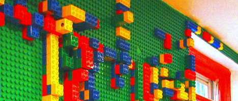 Lego Playroom Walls Turn Surfaces Into Architectural Toys