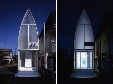 Thin is in the skinny on a super narrow japanese house Skinny block house designs