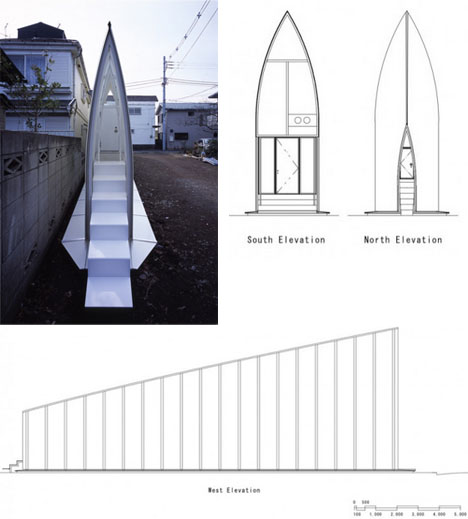 Thin is in the skinny on a super narrow japanese house for Super small house design