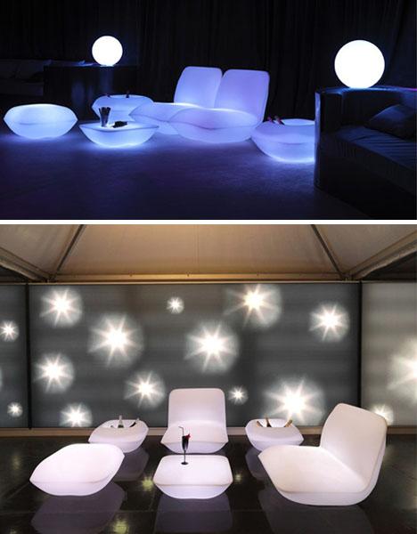 Vondom ... - 5 Light-Up Outdoor Furniture Sets Glow White At Night