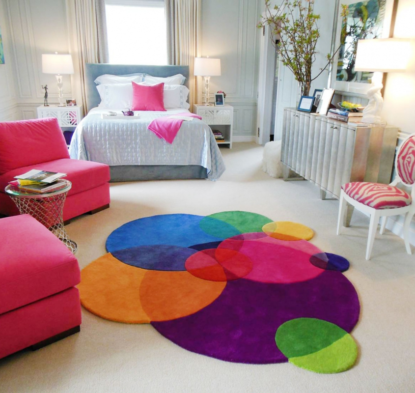Colorful Geometric Abstract Area Rugs