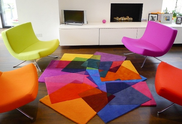 Colorful Geometric Abstract Area Rugs Designs Ideas On