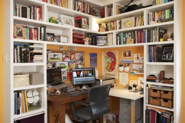 2 Diy Corner Desks With Shelves, Desk And Shelves