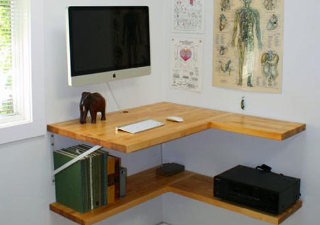 Framing U0026 Floating: 2 Cheap DIY Corner Desks With Shelves