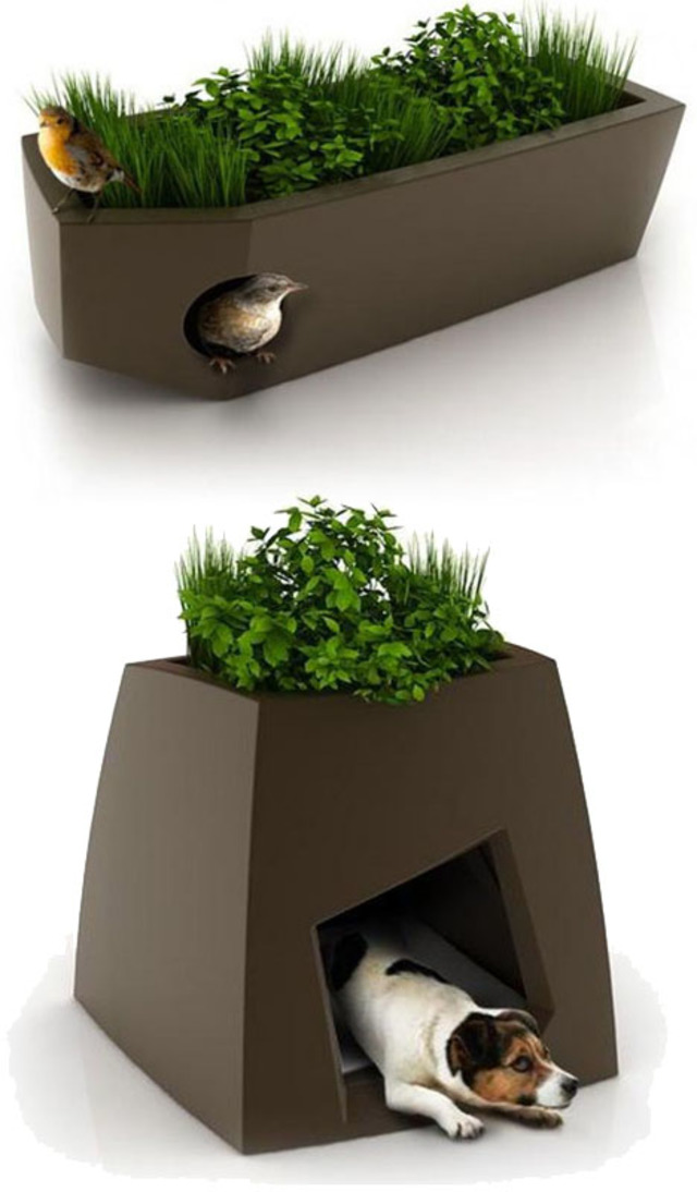 Planters With Built In Pet Houses Designs Amp Ideas On Dornob
