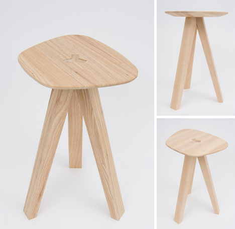 3 Legged Folding Stool Combines Gravity Strength Amp Style