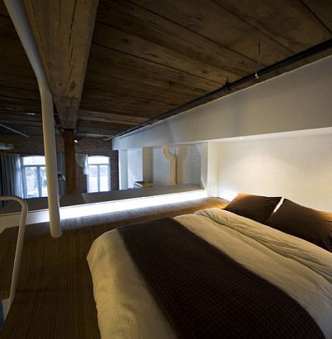Cantilevered master bedroom loft classes up refab condo Master bedroom with loft area