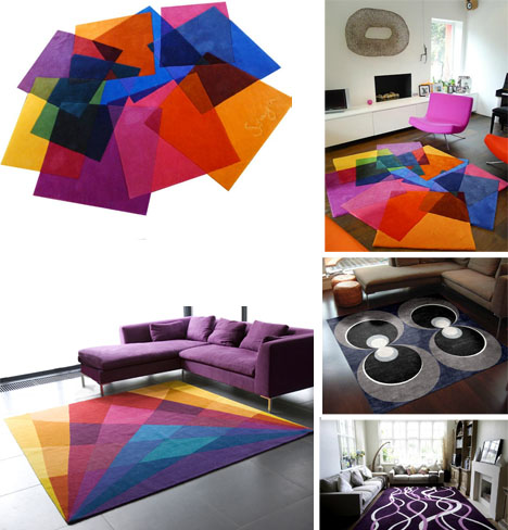 Colorful Geometric Abstract Area Rugs Designs Amp Ideas On
