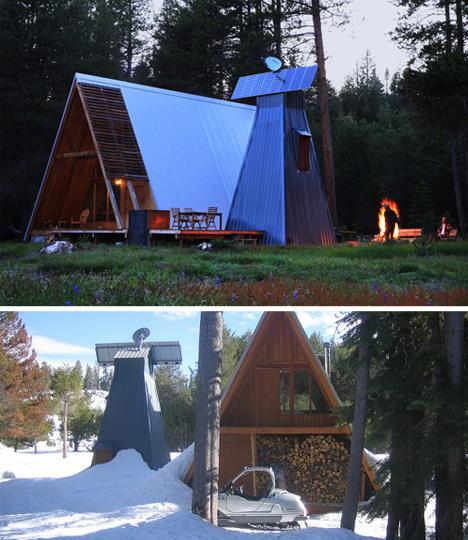 Prefab Holiday Home Mixes A Frame U0026 Log Cabin Aesthetics