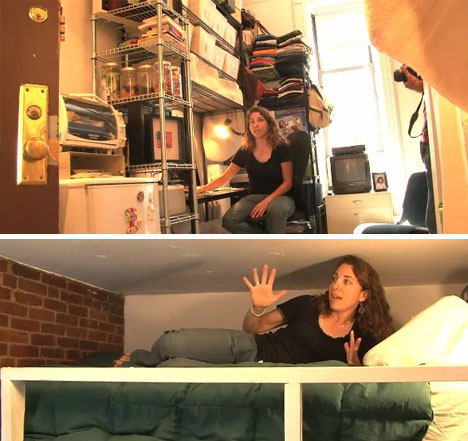 Small Space Survivalist Lives In 8 Square Meter NYC Condo