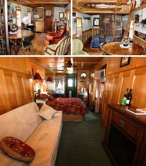 cute caboose 7 train cars transformed into tiny houses. Black Bedroom Furniture Sets. Home Design Ideas