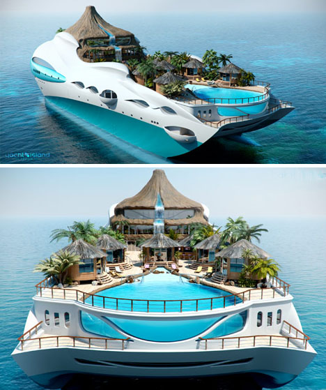 Luxury Overboard Private Yacht As Tropical Island Paradise