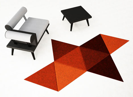 Platonic Carpet 5 Classical Geometric Solids As Area Rugs