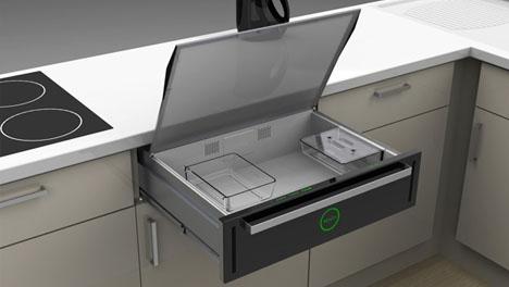 Under Cook Built In Slide Amp Hide Microwave Drawer Idea