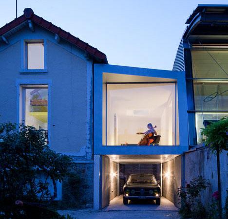 dynamic duet modern paris music room garage addition - Garage Addition