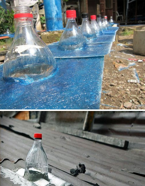Solar Bottle Lamps Water Bleach 10 000 Liters Of Light