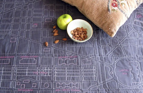 Soft Maps: Wrap Up & Keep Warm with Way-Finding Quilts : quilt city - Adamdwight.com