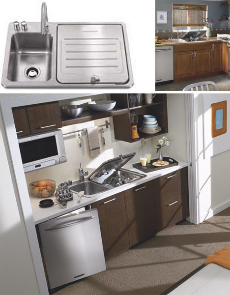 Compact Kitchen Sink Compact small space dishwasher fits into kitchen sink slot with workwithnaturefo