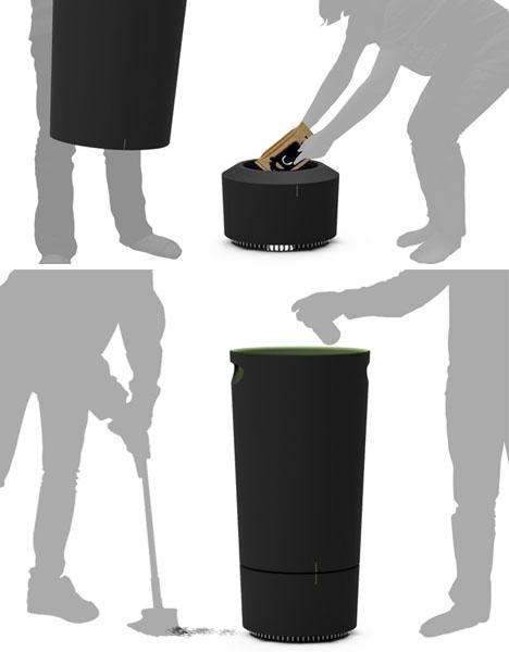 Garbage Bin Vacuum Cleaner Dust Sucking Trash Can