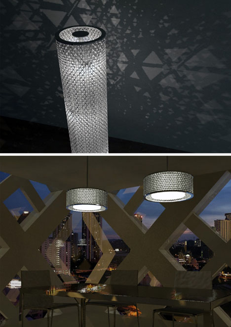 Diy Geodesic Disco Ball Lamp From Upcycled Drink Boxes