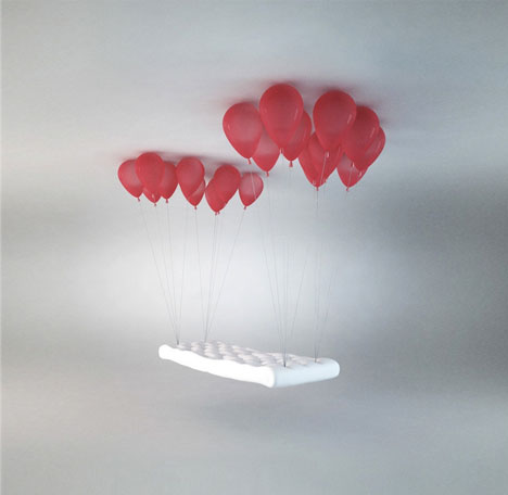 Balloon Bench Fanciful Hover Seat Amp Floating Ceiling Lamp
