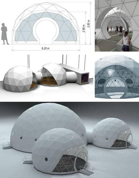 Lightweight Living: Global 4 Season Geodesic Dome Homes