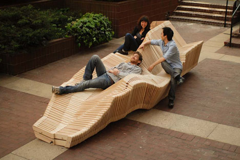Kinetic Bench System: Slinky Inspired, Shape Shifting Seat