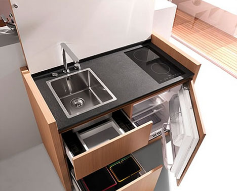 All The Things: Compact Kitchenette Cools, Cooks U0026 Cleans