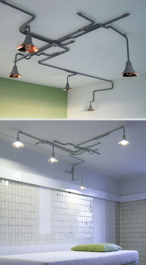 Natural Lighting Metal Ceiling Lights Wrap Like Living Vines Designs Ideas On Dornob