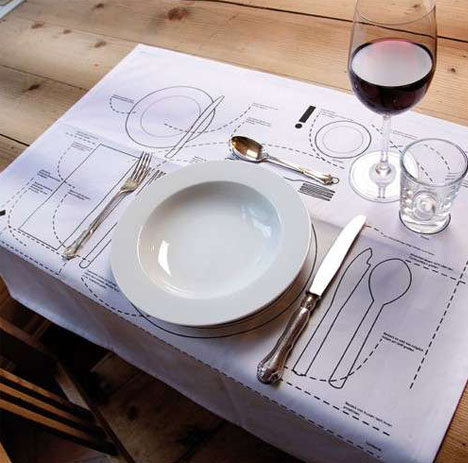 Superior Playfully Illustrated Placemats Teach Proper Table Manners