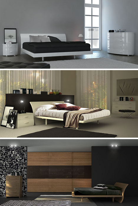 Fit for a queen or king 8 curved platform canopy beds for Master bedroom minimalist design