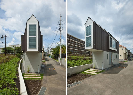 Tiny Triangular Japanese House Narrowly Fits Its Little Plot Designs Ideas On Dornob