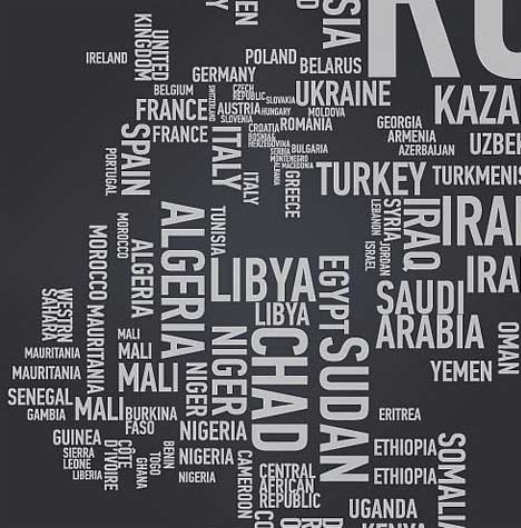 Geo typographies world map wall stickers made of words this gumiabroncs Image collections