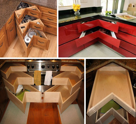 Awesome Corner Drawers: 6 Solutions For Awkward Kitchen Spaces