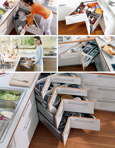 Charming Corner Drawers: 6 Solutions For Awkward Kitchen Spaces