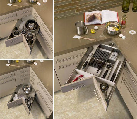 Corner Drawers: 6 Solutions For Awkward Kitchen Spaces