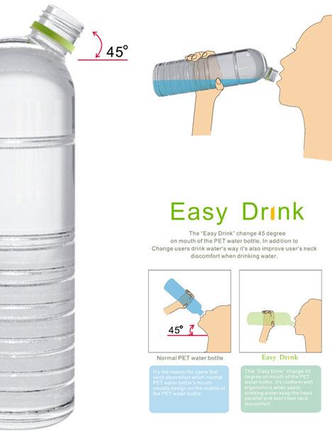 Easy Drink 45 Degree Plastic Bottle Cranes Neck For
