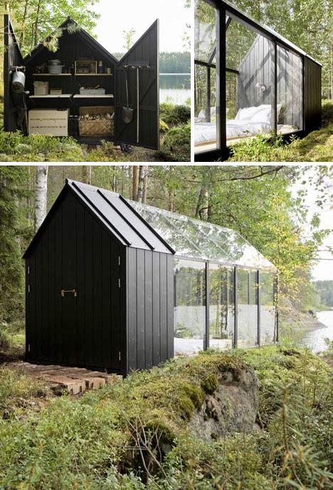 Scandinavian Small House Design: Dream In Green: Small Scandinavian Summer Island House