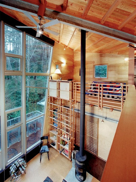 Drawbridge Style Stairs Lift Up To Secure Treehouse