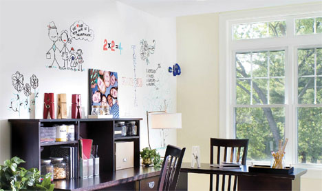 Writable Paint Turns Walls Into Easy Dry Erase Whiteboards