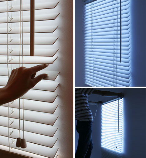 Blind Light Faux Wall Hung Daylight Via Led Window Blinds