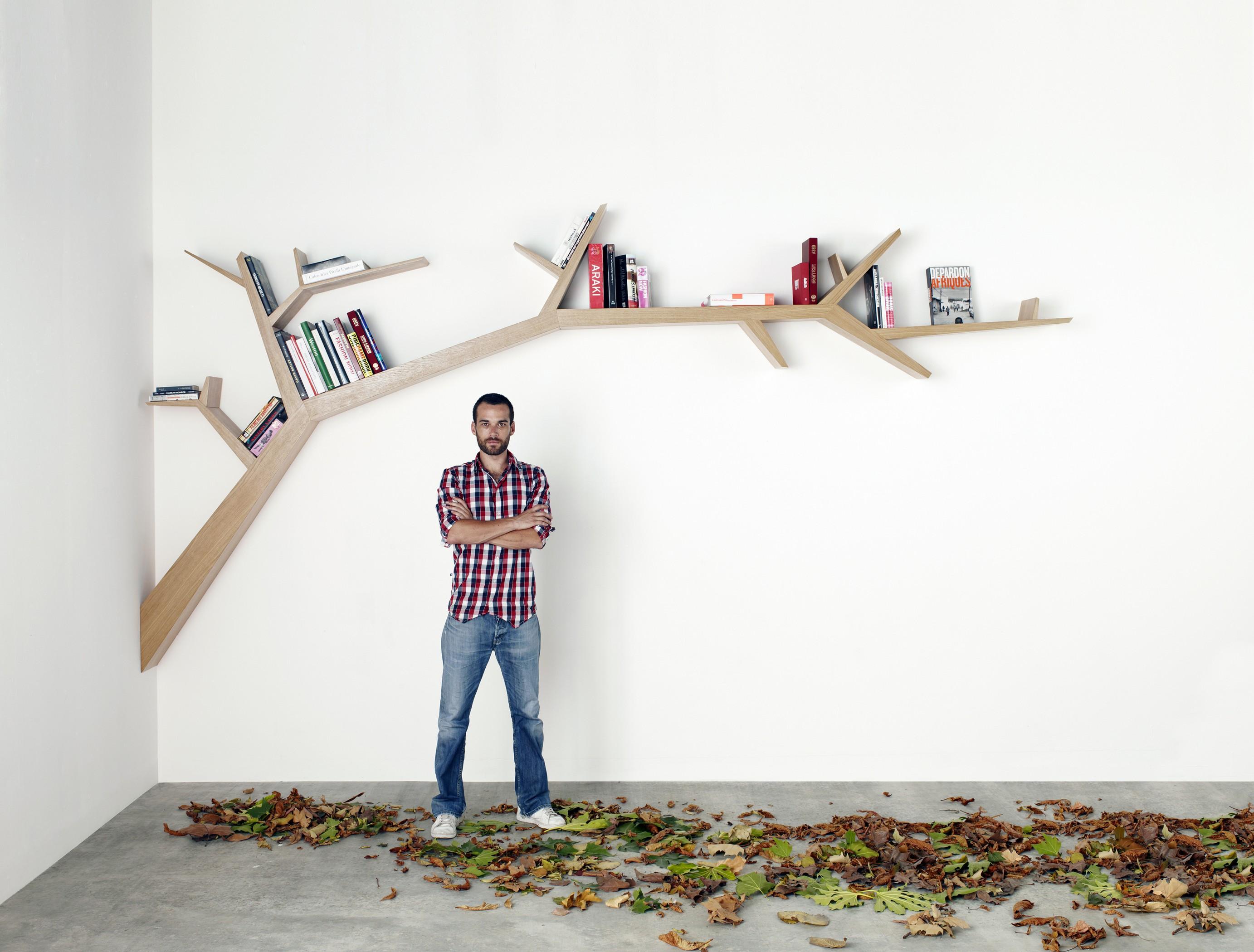 Modern Bookshelf Shaped Like A Tree Branch Designs Ideas On Dornob