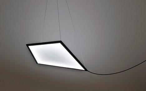 Kite Light: Suspended Diamond Lamps Soar Like Flying Kites
