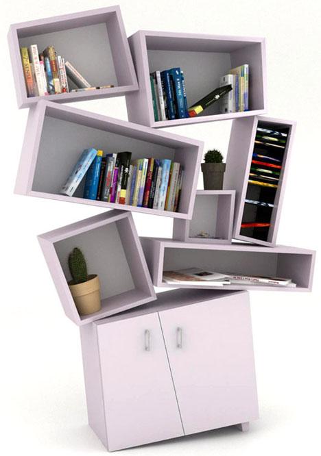 Postmodern Reading 4 Deconstructivist Bookcase Designs