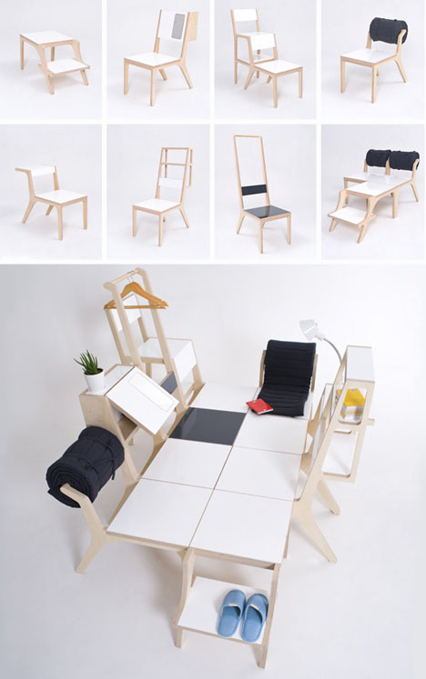 8 Multi Purpose Chairs Have 2 Modes Amp Combine Into A Bed