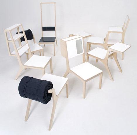 sc 1 st  Dornob & 8 Multi-Purpose Chairs Have 2 Modes u0026 Combine into a Bed